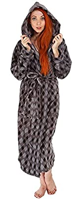 Men's Bathrobe Simplicity Luxurious Plush Warm Fleece Hooded Kimono Robe