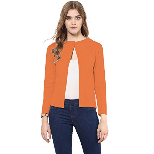441a83c764247b Women s Cotton Full Sleeve Shrug   Women s Formal Shrug with Front Button  Closure. by skidlers