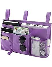 Bseash 8 Pockets 600D Oxford Cloth Caddy Hanging Organizer Bedside Storage Bag for Bunk and Hospital Beds,Dorm Rooms Bed Rails
