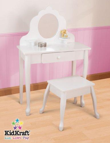 Diva Girls Vanity (KidKraft Diva White Mirror Vanity Table & Stool Set  )
