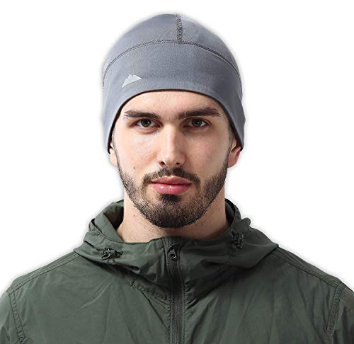 Skull Cap/Helmet Liner/Thermal Running Beanie Hat - Fits Under ()