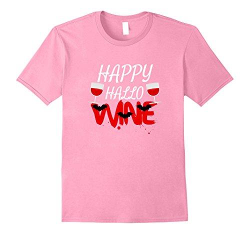 [Mens Happy Hallo Wine Tshirt for Halloween, Hallowine Shirt Women 3XL Pink] (Office Themed Halloween Costume Ideas)