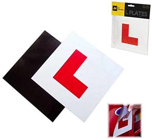 Motorcycle Decals - Student Driver Magnet For Car Sign New And Sticker Rookie - Motorcycle Car Sticker Magnetic L Plates Learner Driver Plates 17.8x17.8cm - - 1pcs (Extract Deluxe Vanilla)