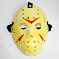 Dream Loom Jason Maschera, Costume di Halloween Cosplay Party Mask Prop, Mascherata Maschera per adulti (Giallo)