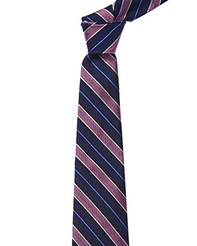 Brooks Brothers Mens Navy & Pink Stripe Silk Tie, Os, Blue Brooks Brothers Silk Tie