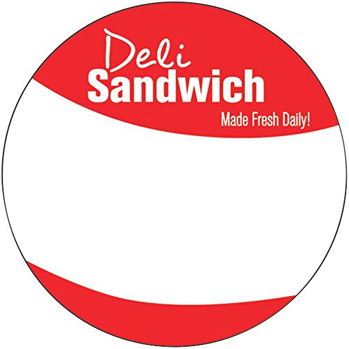 Deli Sandwich Labels Red Write-In - 2