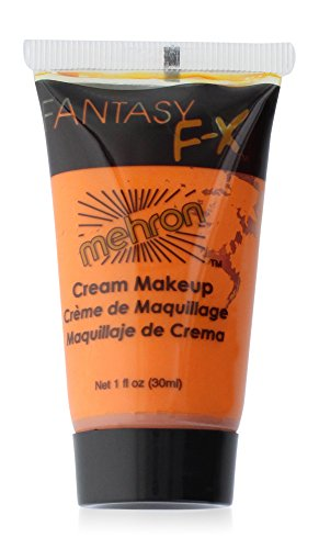 Mehron Makeup Fantasy F/X Water Based Face & Body Paint, ORANGE– 1oz Carded (Paint Face Halloween Ideas)