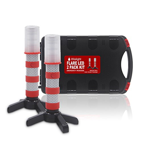 Side Stand Assembly (WISLIGHT LED Emergency Roadside Flares Safety Strobe Light - Road Warning Beacon Flare , Magnetic Base, Detachable Stand, Storage Case (1 Case Pack, Battery not included))