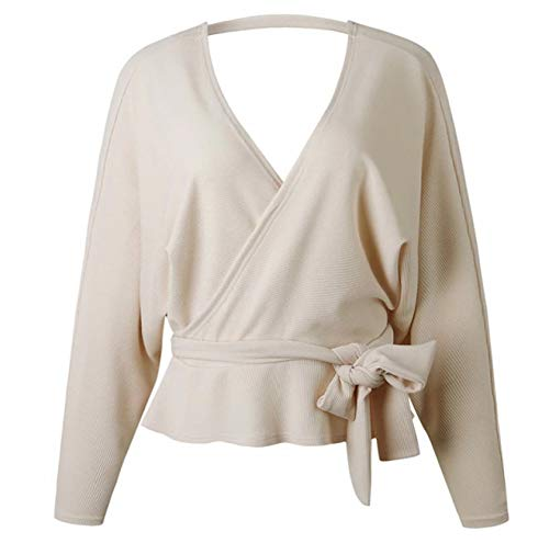 Printemps Pull En S Cry Femmes Tricot V Oversize À Large Col Femme Tricot Dos S64xxqnwI