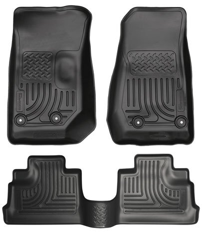 Husky Liners WeatherBeater Floor Liner Combo for 2014 Jeep Wrangler Unlimited(4 Dr) - Includes Front & Rear Black WeatherBeater Floor Liners # 18041 & 19021