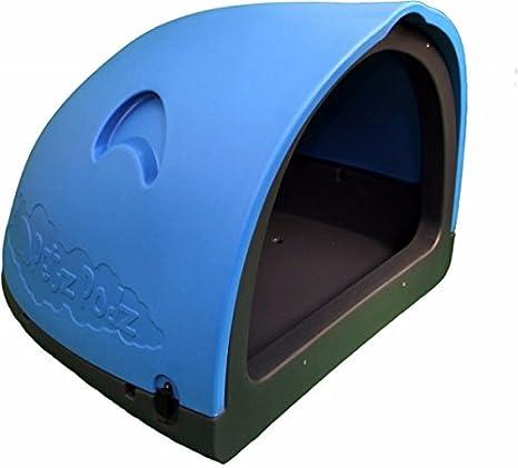 PetzPodz Pod Grande para Cachorro, Perro y Pollo – Funda de plástico Azul Perro Crate