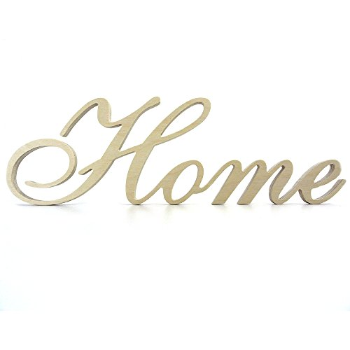 Granesvit Wooden Letters Home Unfinished Wood Word