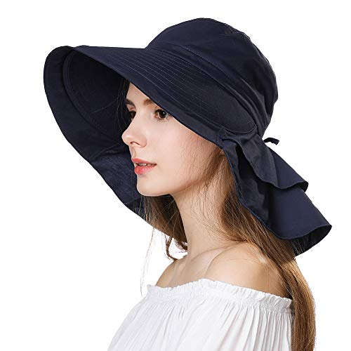 AMAZON'S CHOICE SPF 50 COTTON WIDE BRIM SUN HAT!