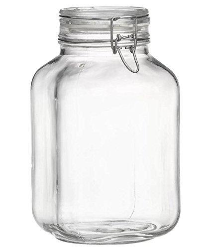 Bormioli Rocco B076QKF5G4 Fido Clear Jar, 33-3/4-Ounce, 3 Liter by Bormioli Rocco