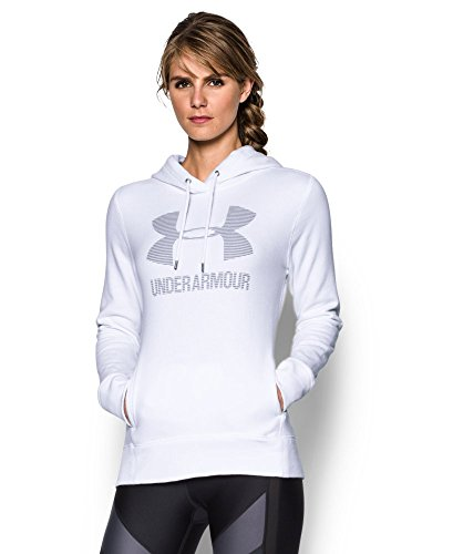 Under Armour Women's Favorite Fleece Sportstyle Hoodie, White (101), Medium