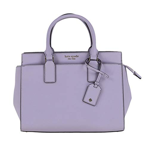 Kate Spade Cameron Saffiano Leather Medium Satchel Convertible Crossbody Bag Purse Handbag (Icy Lavender) ()