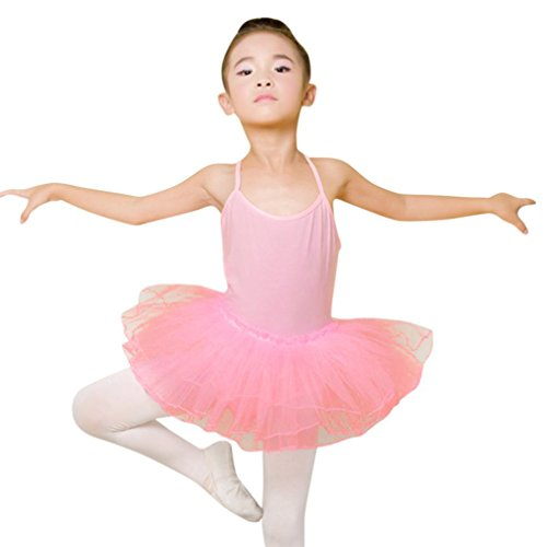 Vacally 7 Colors Toddler Ballet Dress Leotard Strap Tutu Dresses For 1-6 Years Old Girl (Pink, 2-3Years (Dance Costumes Dancewear For Sale)