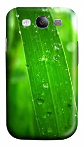 Dew On Grass Thread Closeup Custom Polycarbonate Hard Case Cover for Samsung Galaxy S3 SIII I9300