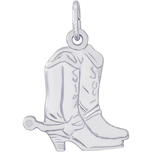 Rembrandt Charms Cowboy Boot Charm, 14K White Gold by Rembrandt Charms