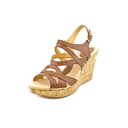Women's BOC by Born, Brygida Strappy high Wedge Sandals Saddle Brown 10 M ()
