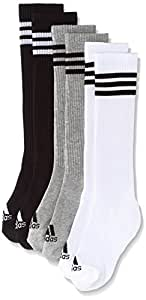 adidas 3S Knee HC 3Pp Calcetines, Hombre, Blanco (White/Black/Medium Grey Heather), XXS