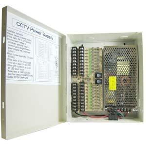 DC12V 12Amps 18-Port Power Supply Box (UL)