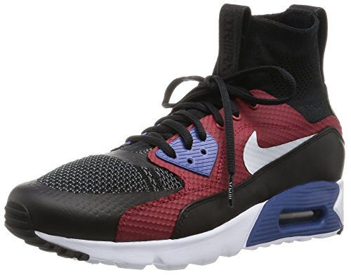 Nike Air Max 90 Ultra Superfly Mens Running Trainers 850613 Sneakers Shoes (UK 10 US 11 EU 45, Black White Dark Grey 001) (Air Max 90 Ultra Superfly Tinker Hatfield)