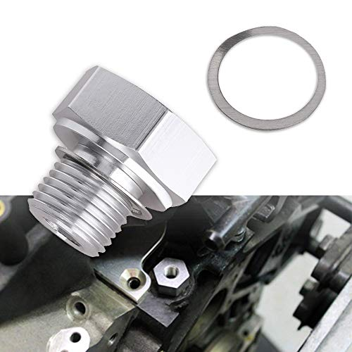 Tutor Auto Oil Pressure Sensor Adapter Fittings with Male M16 × 1.5 Adapter Female 1/8 NPT for GM LS1 LSX LS3 Replace 551172 Aluminum Oil Pressure Sensor Adapter ()