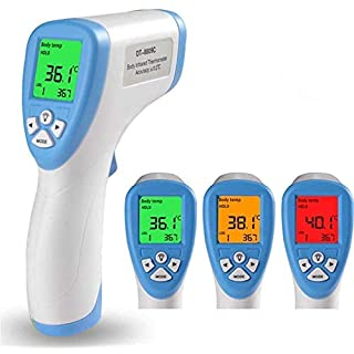 Non Contact Digital Forehead Thermometer for Adults Kids and Baby, Medical Infrared Thermometers with 3 Function - Fever Alarm, Over Range Display and 32 Group Data Memory