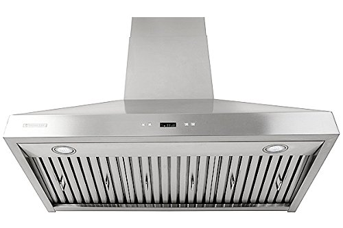 XtremeAir PX03-W36, 36'' wide, LED lights, Baffle Filters W/ Grease Drain Tunnel, 1.0mm Non-Magnetic Stainless Steel Seamless Body, Wall Mount Range Hood by XtremeAIR (Image #4)