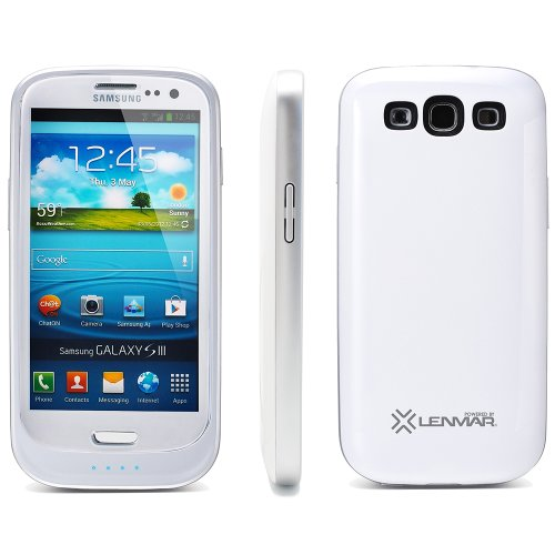 Samsung Galaxy S3 2000 mAh Extended Battery Case, White By Lenmar by Lenmar
