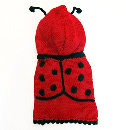LadyBug Dog Costume Dog Sweater Hoodie Dog Apparel Puppy Costume Clothes for Pets - Different Sizes Available (XXXS)