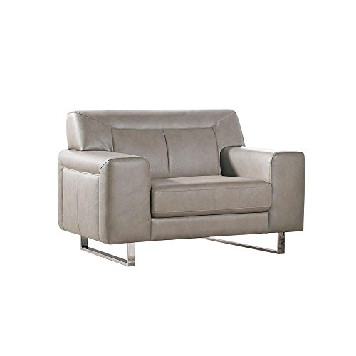 Valle Leatherette Sofa in Sandstone with Metal Leg