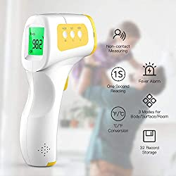 CocoBear Baby Thermometer for Fever Forehead Thermometer with Alert Function, 3 in 1 Digital Medical Infrared Thermometer for Kids and Adults