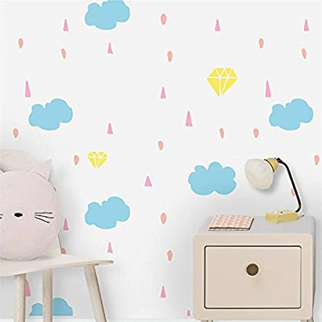 Wallpaper Wall Murals 51 18 X 108 26 Inches Rainbow Wallpaper Nursery Decor Repositionable Adhesive Kids Room Decor Wall Art Decoration