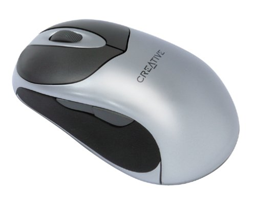 (Creative Mouse Wireless Optical 5000 - Mouse - optical - 5 button(s) - wireless - RF - USB / PS/2 wireless receiver)