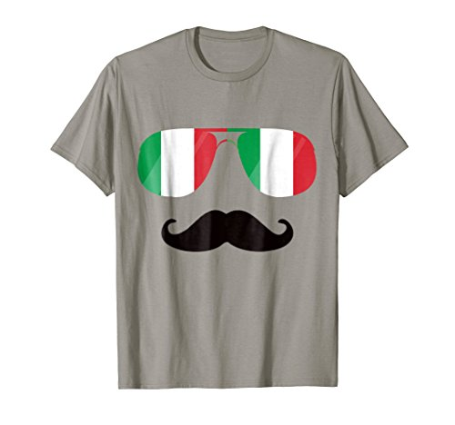 Flag Italy Sunglasses Mustache Shirt Italia Flags Gift Tee