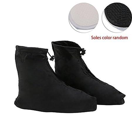 Lamdoo S-XXL Ré utilisable Pluie Gear Bottes Neige Couvre-Chaussures é tanche Chaussures sur-Chaussures, PVC, Noir, Taille M