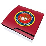 USMC Red Design Skin Decal Sticker for the Playstation 3 PS3 SLIM Console by MyGift