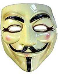 V For Vendetta Guy Fawkes Face Mask, Halloween Masquerade Mask Fancy Dress Party Cool Mask