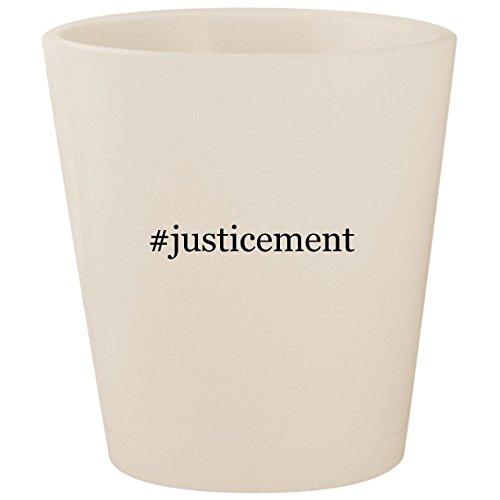 (#justicement - White Hashtag Ceramic 1.5oz Shot Glass)