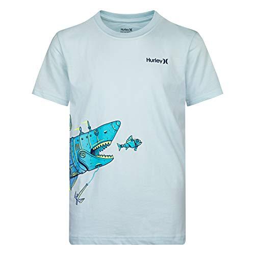 (Hurley Boys' Toddler Character Graphic T-Shirt, Teal Tint Shark Sub, 2T)