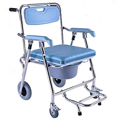 Amazon.com: Silla de inodoro plegable con asiento acolchado ...