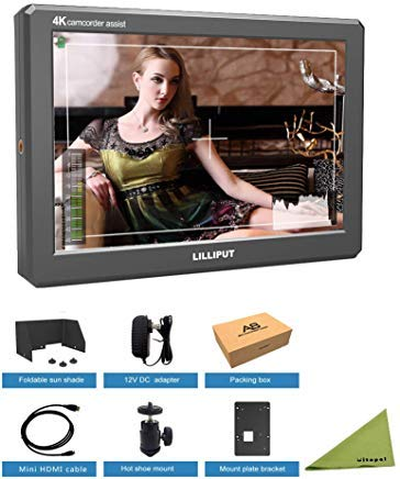 LILLIPUT A8S 8.9 Inch 4K 3G-SDI Mini HDMI Monitor 3D-LUT 1920x1200 IPS Camera Field Monitor by LILLIPUT Official VIVITEQ