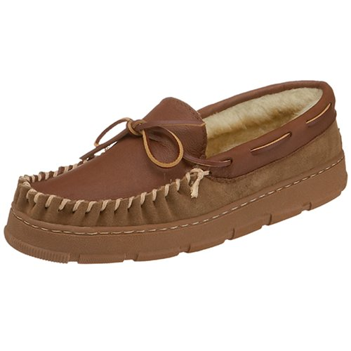 Tamarac by Slippers International 8018A Men's Deerskin Moccasin Slipper,Allspice,11 M US - Deerskin Moccasin