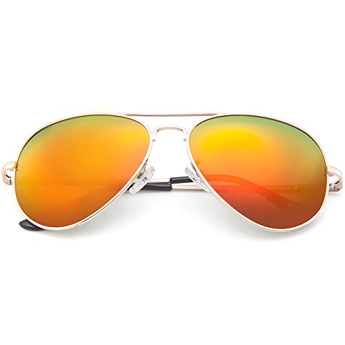 MT MIT Classic Aviator Polarized Mirrored Lens Metal Frame UV400 Sunglasses for Men - Photo Polarised