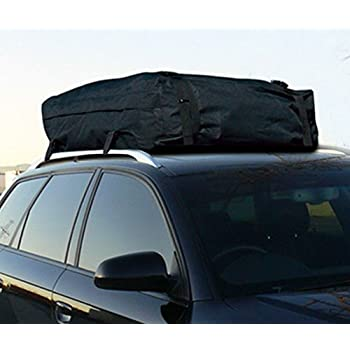 Heavy Duty UNIVERSAL BLACK WATERPROOF ROOF TOP CARGO CARRIER BAG TRAVEL LUGGAGE STORAGE