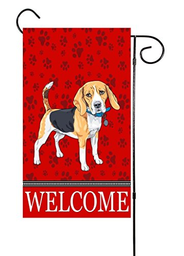 "Beagle Garden Flag - Unique Textile Printing Beagle - Dog Lover Garden Flag 12""x18"""