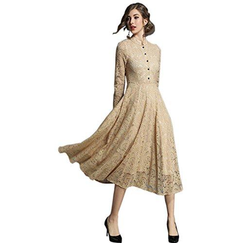 3/4 Manches / Manches Longues Robe De Soirée Robe En Dentelle Longue Pour Le Champagne De Fête De Borje Femmes De La Mode