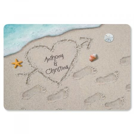 Lillian Vernon Personalized Heart in the Sand Floormat - 17